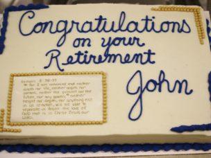 John Carney's Retirement