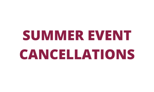 Summer Event Cancellations
