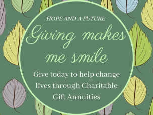Charitable Gift Annuity from Mike Kura, Haven of Rest Ministries' Board President